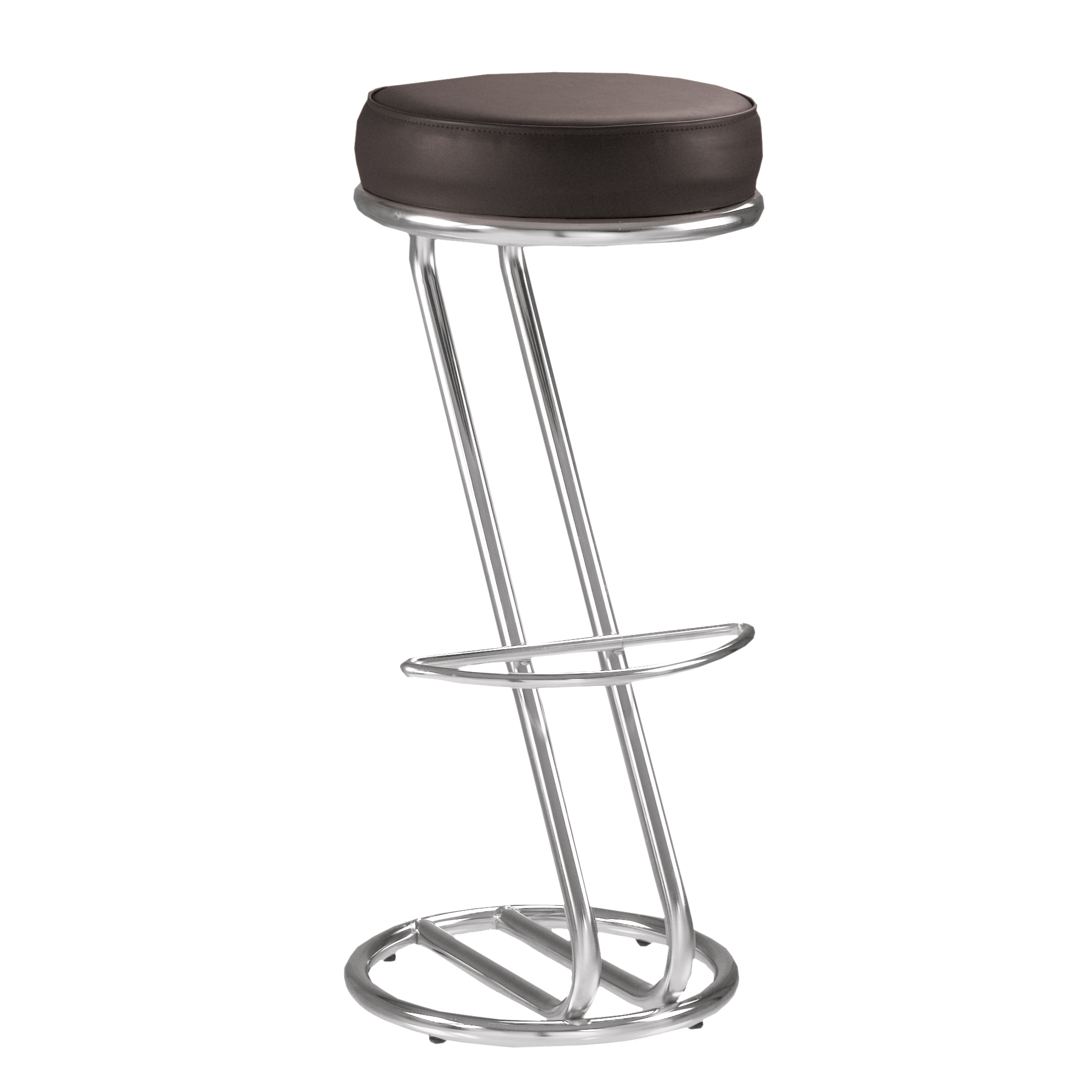 Lot de 2 tabourets de bar chaise haute de bar zeta noir for Siege de tabouret de bar