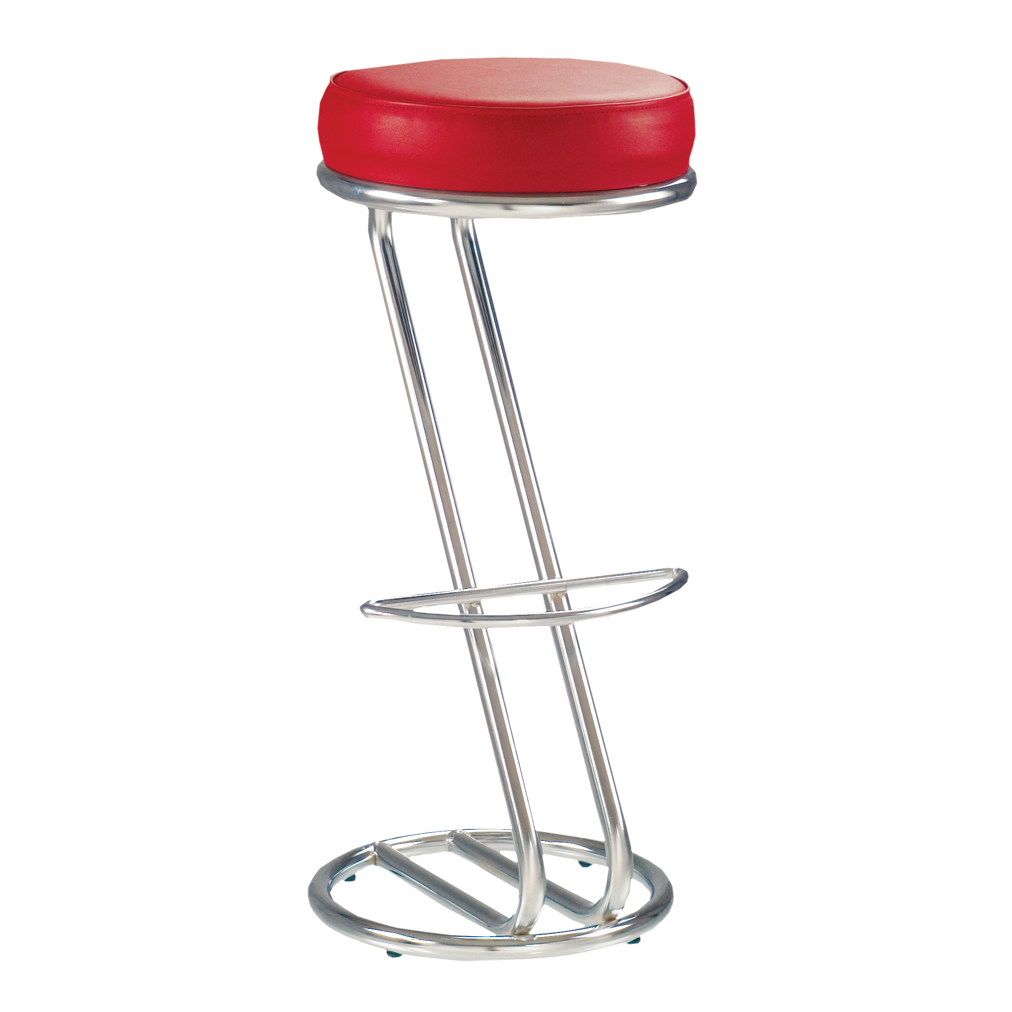 Lot de 2 tabourets de bar chaise haute de bar zeta rouge for Siege de tabouret de bar